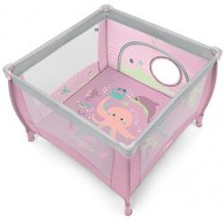 Kojec Baby Design Play 106x106 cm - 08 różowy