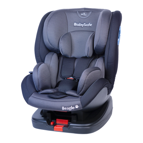 Fotelik Baby-Safe Beagle Isofix 0-25 kg - szaro-czarny