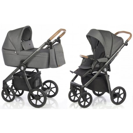 Wózek dziecięcy Roan Coss - Black Dots - Bejbi.eu