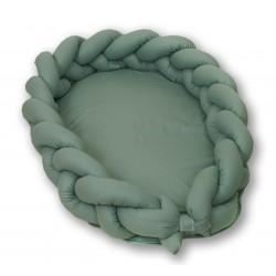 Kokon warkocz 2w1 210 cm AMY Pure - Salvia