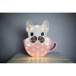 Lampa Lights My Love - Pies w Filiżance różowy