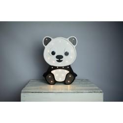 Lampa Lights My Love - Panda ciemny szary