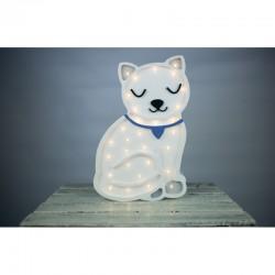 Lampa Lights My Love - Kotek biały