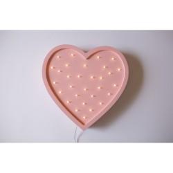 Lampa Lights My Love - Serce różowe