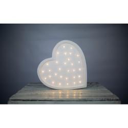 Lampa Lights My Love - Serce białe