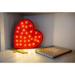 Lampa Lights My Love - Serce czerwone