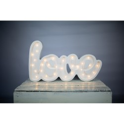Lampa Lights My Love - Napis Love biały