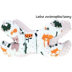 Poduszka antywstrząsowa Motylek Infantilo - Leśne zwierzątka/szary