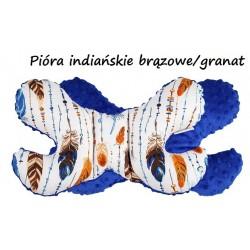 Poduszka antywstrząsowa Motylek Infantilo - Pióra indiański brązowe/granat