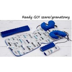 Wkładka do wózka Minky z poduszką Motylek Infantilo - Ready GO szare/granatowy