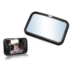Duże lusterko wsteczne z regulowanym kątem widzenia Baby-Safe