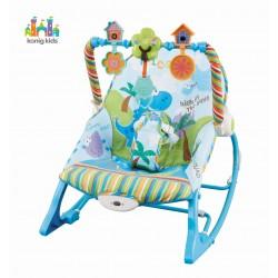 Leżaczek z wibracjami i pozytywką dla dzieci od 0 do 18 kg Konig Kids