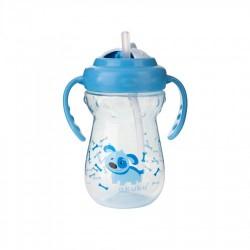 Bidon ze słomką 360 ml Akuku A0269 - niebieski
