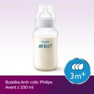 Butelka Avent antykolkowa dla niemowląt 330 ml SCF816/17