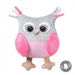 Przytulanka dla niemowląt 30 cm Owl Sofia BabyOno 441 - różowa
