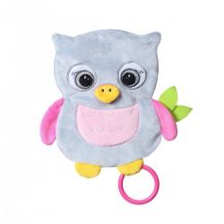 Przytulanka dla niemowląt 17,5 cm Flat Owl Celeste BabyOno 446