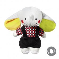 Zabawka przytulanka pluszowa z grzechotką od 0m+ BabyOno 637 Elephant Andy 21 cm