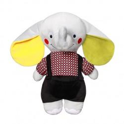Zabawka przytulanka pluszowa z grzechotką od 0m+ BabyOno 648 Elephant Andy Senior 50 cm