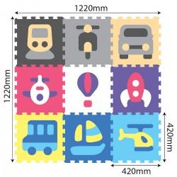 Puzzle Podłogowe Pojazdy od 10m+ Anek 1047 - 9 sztuk