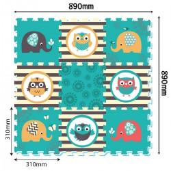 Puzzle Podłogowe Sowy od 10m+ Anek 3064 - 9 sztuk