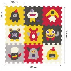 Puzzle Podłogowe Słodkie Potwory od 10m+ Anek 5507/9 - 9 sztuk