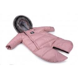 Kombinezon niemowlęcy zimowy CottonMoose 2w1 dla dzieci od 0 do 6 miesięcy - różowy/szary 767/111