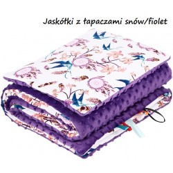 Komplet do wózka Minky Infantilo -  Jaskółki z łapaczami snów fioletowe