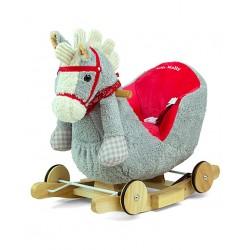 Bujak na biegunach MILLY MALLY - Polly Grey-Red Horse