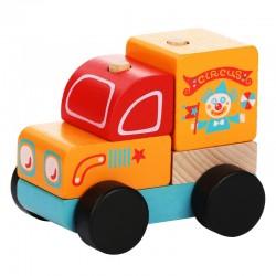 Zabawka drewniana od 18m+ CUBIKA - Drewniany Wóz Cyrkowy