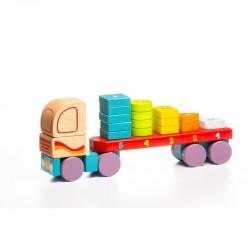 Zabawka drewniana od 18m+ CUBIKA - Drewniana Ciężarówka Sorter