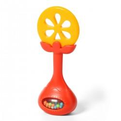 Gryzak edukacyjny z grzechotką od 0m+ BabyOno 499/01 Juicy Orange