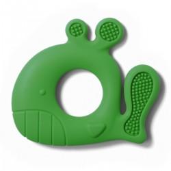 Gryzak silikonowy od 3m+ BabyOno 935/02 Whale Pablo - zielony