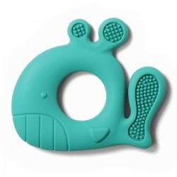 Gryzak silikonowy od 3m+ BabyOno 935/01 Whale Pablo - turkusowy