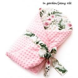 Becik rożek Minky 75x75 cm Infantilo - In garden