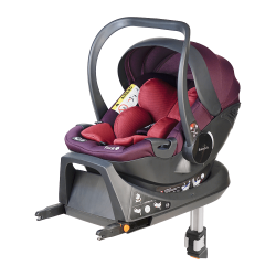 Fotelik Baby-Safe York i-Size 0-13 kg z bazą Isofix - różowo-fioletowy
