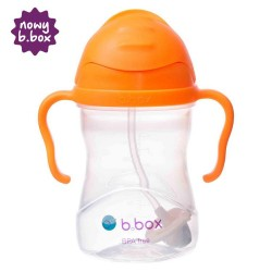 Bidon ze słomką 240 ml od 6m+ B.BOX - pomarańczowy