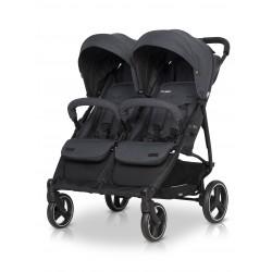 Wózek dziecięcy bliźniaczy EasyGo Domino spacerowy - Coal
