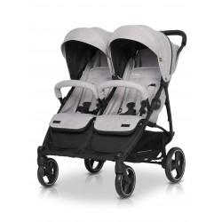 Wózek dziecięcy bliźniaczy EasyGo Domino spacerowy - Pearl