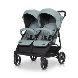 Wózek dziecięcy bliźniaczy EasyGo Domino spacerowy - Mineral