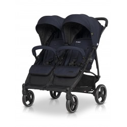 Wózek dziecięcy bliźniaczy EasyGo Domino spacerowy - Cosmic Blue