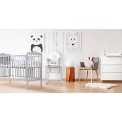 Zestaw mebli Klupś - łóżko 120-60 cm + komoda - Oliver biały