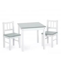 Stolik + 2 krzesełka Klupś JOY - białe