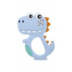 Gryzak silikonowy Bocioland - Dino niebieski