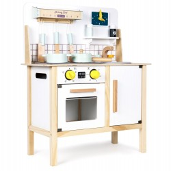 Drewniana kuchnia dla dzieci z dźwiękami i akcesoriami od 36m+ Ecotoys CA12093