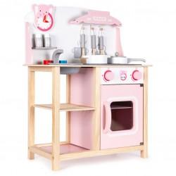 Drewniana kuchnia dla dzieci z dźwiękami i akcesoriami od 36m+ Ecotoys CA12009