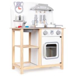 Drewniana kuchnia dla dzieci z dźwiękami i akcesoriami od 36m+ Ecotoys CA12015