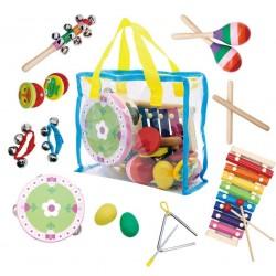 Zestaw muzyczny 14 instrumentów z torbą od 36m+ Ecotoys MK0700301