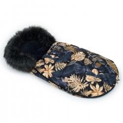 Śpiwór zimowy Lux Liscie na Czarnym /Czarny