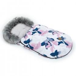 Śpiwór zimowy Lux Liście z Różanym/Jasny Szary