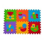 Puzzle podłogowe 6m+ BabyOno 277 Zwierzęta - 6 szt
